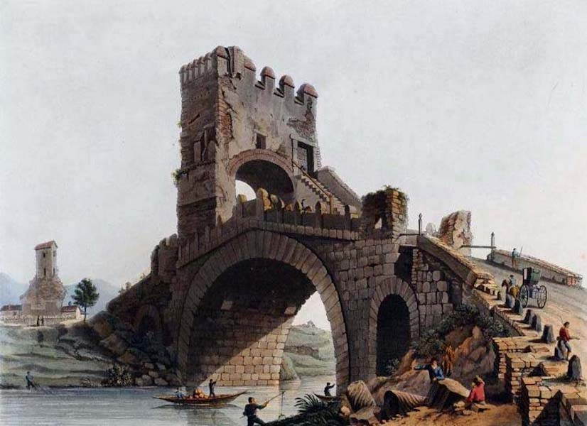 Views of the Remains of Ancient Buildings in Rome - Ponte Salaro (1844)