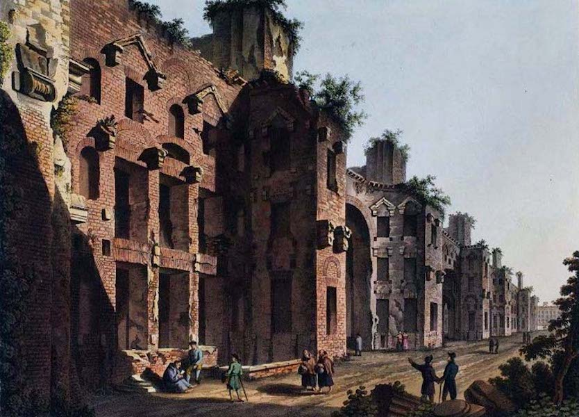 Views of the Remains of Ancient Buildings in Rome - Baths of Dioclesian (1844)