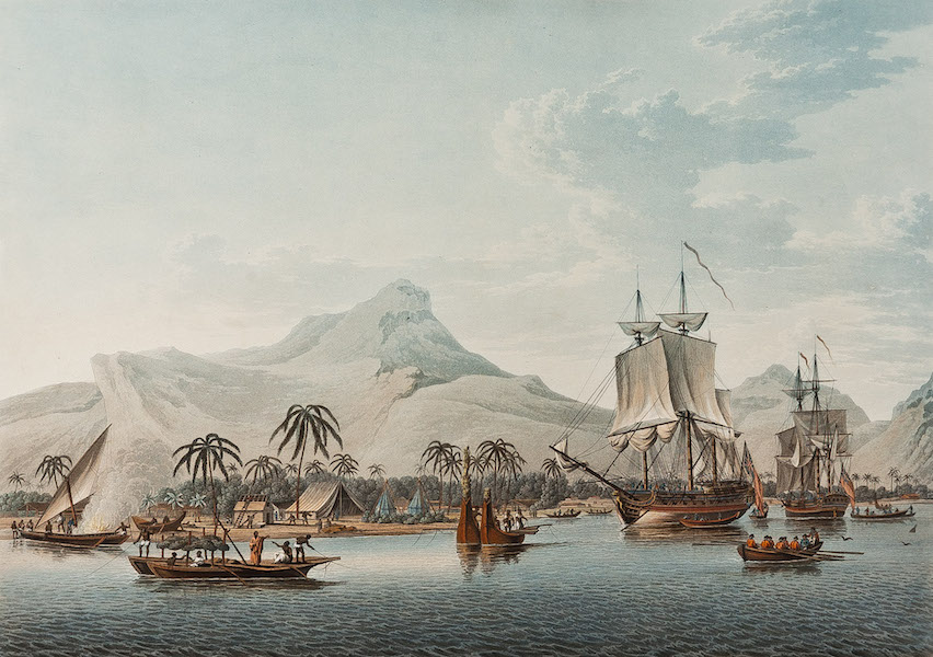 Views of the South Seas - View of Huaheine, one of the Society Islands (1788)