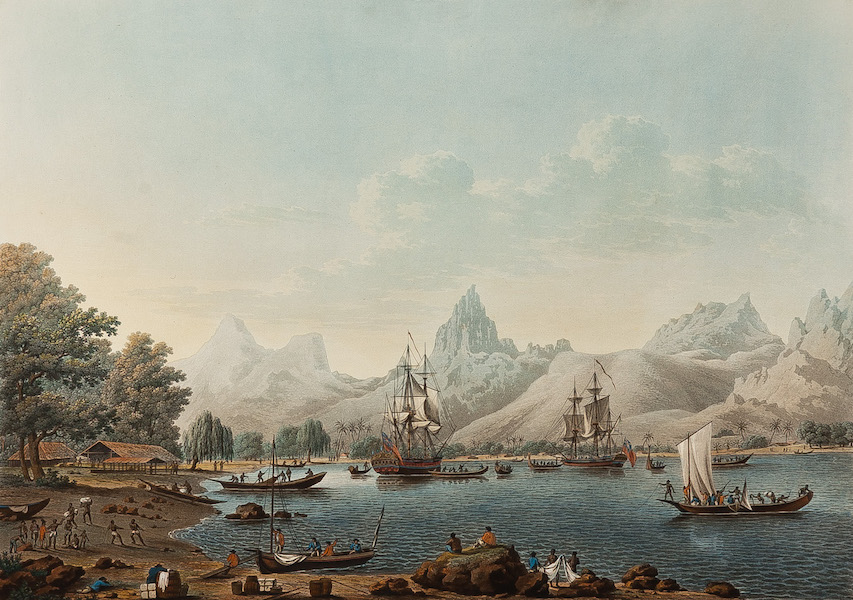 Views of the South Seas - View of Morea, one of the Friendly Islands (1788)