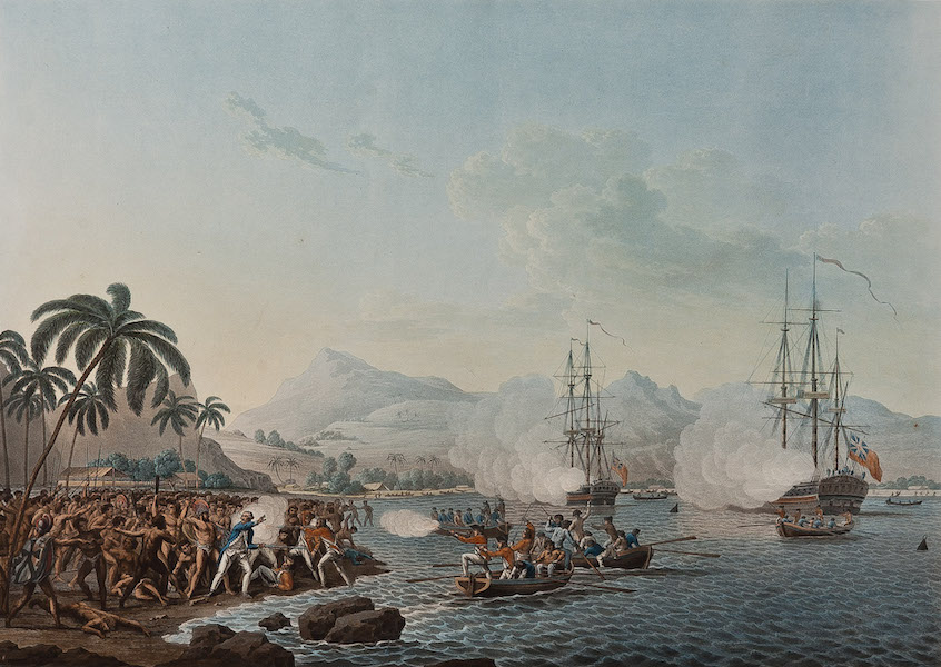 Views of the South Seas - View of Owhyhee, one of the Sandwich Islands (also known as 'The Death of Cook') (1788)