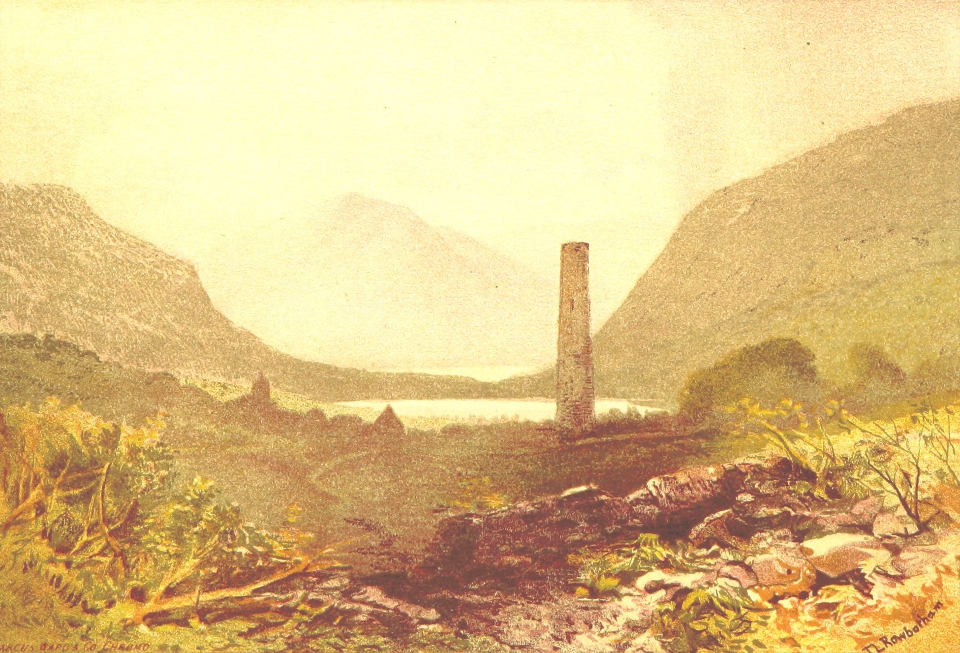 Views of Wicklow and Killarney - Glendalough and Seven Churches (1875)