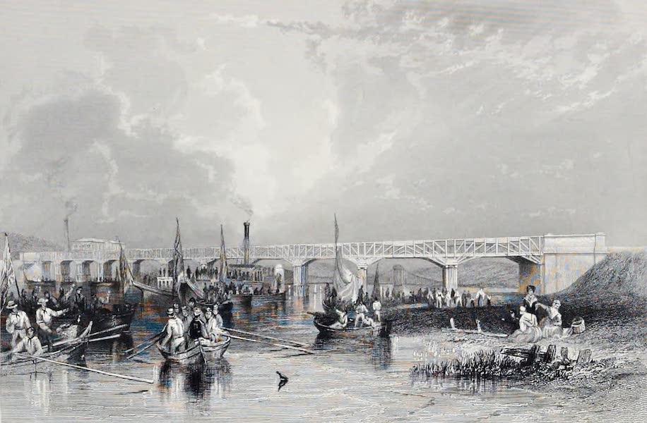 Views on the Newcastle and Carlisle Railway - Scotswood Bridge (1839)