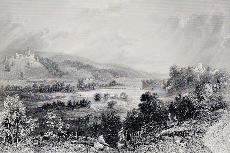 Views on the Newcastle and Carlisle Railway - Prudhoe Castle and Ovingham (1839)