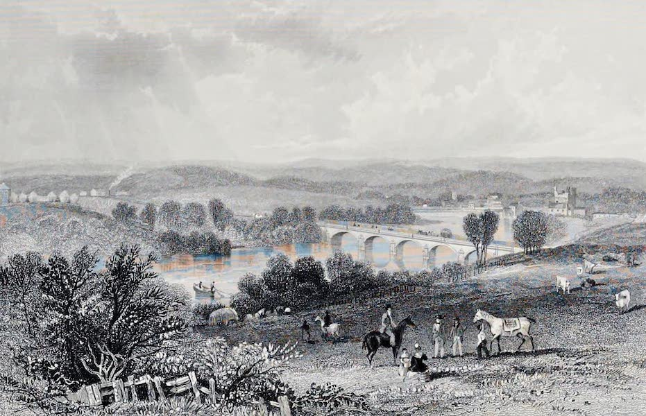 Views on the Newcastle and Carlisle Railway - Bywell (1839)