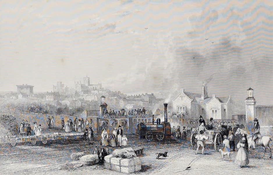 Views on the Newcastle and Carlisle Railway - The Depot at Hexham (1839)
