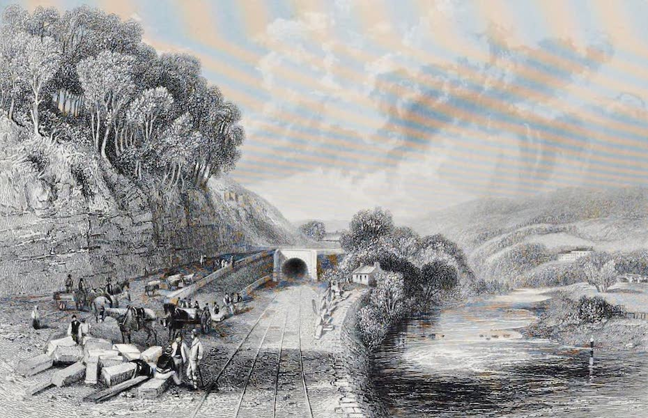 Views on the Newcastle and Carlisle Railway - West End of Haltwhistle Tunnel (1839)