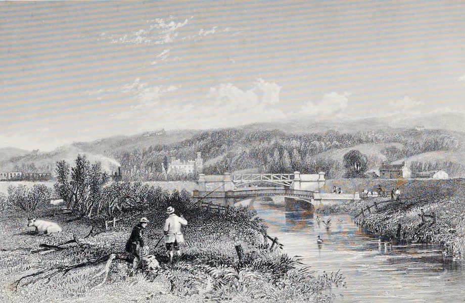 Views on the Newcastle and Carlisle Railway - Blenkinsopp Hall (1839)
