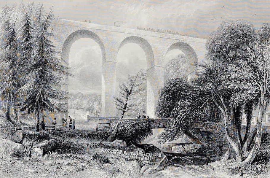 Views on the Newcastle and Carlisle Railway - Gelt Bridge (1839)