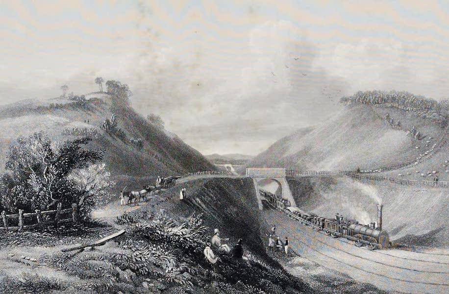 Views on the Newcastle and Carlisle Railway - The Cowran Cut (1839)