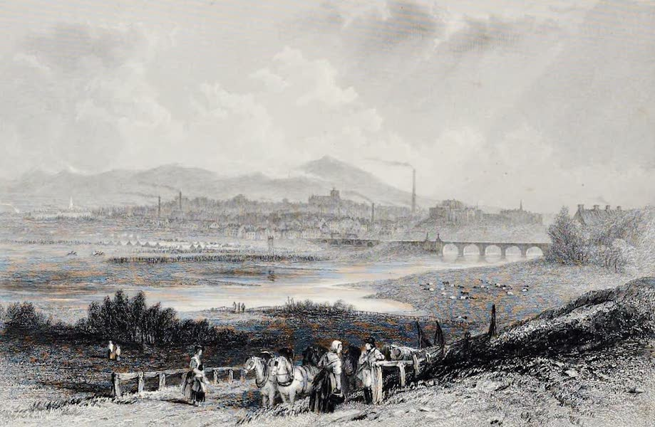 Views on the Newcastle and Carlisle Railway - Carlisle, from the North-East (1839)