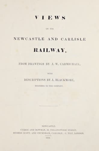 Views on the Newcastle and Carlisle Railway (1839)