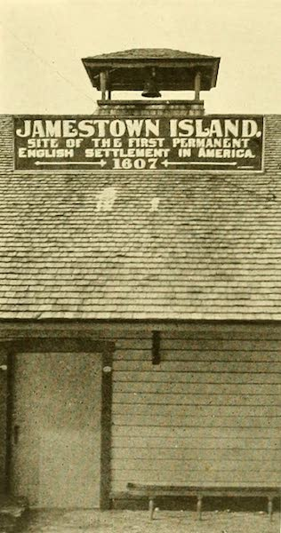 Virginia: the Old Dominion - Wharf Sign at Jamestown Island (1921)