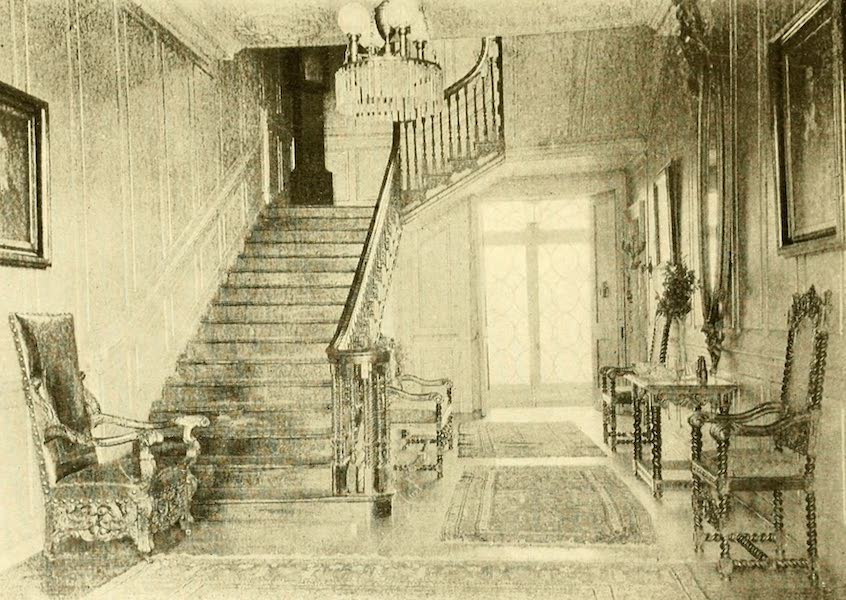 Virginia: the Old Dominion - The Hall, With Its Carved Mahogany Staircase (1921)