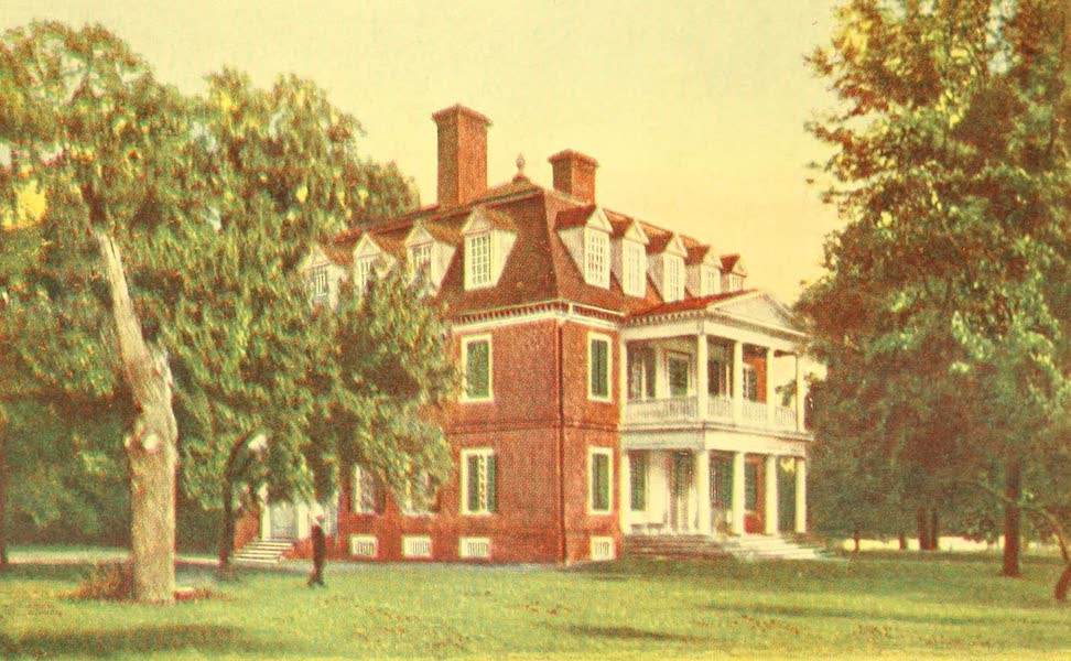 Virginia: the Old Dominion - Riverward Front of Shirley (1921)