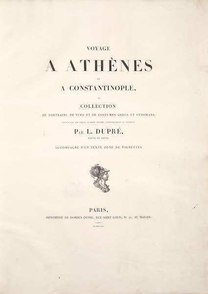Voyage a Athenes et a Constantinopole - Title Page (1825)