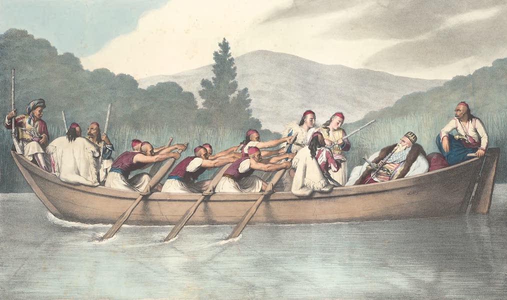 Voyage a Athenes et a Constantinopole - Ali Pacha de Janina, chassant sur le lac de Butrinto en Mars 1819 (1825)
