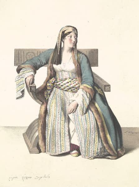 Voyage a Athenes et a Constantinopole - Une Demoiselle Grecque de Livadie (1825)