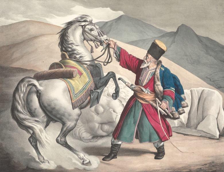 Voyage a Athenes et a Constantinopole - Un Tartare et les fragmens du Lion de Cheronnee (1825)