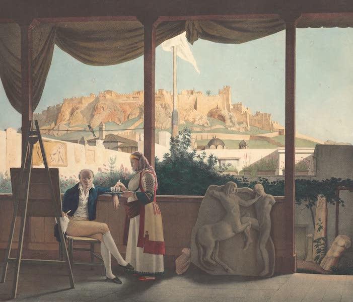 Voyage a Athenes et a Constantinopole - L'Acropolis Vu de la Maison du Consul de France Mr Fauvel (1825)