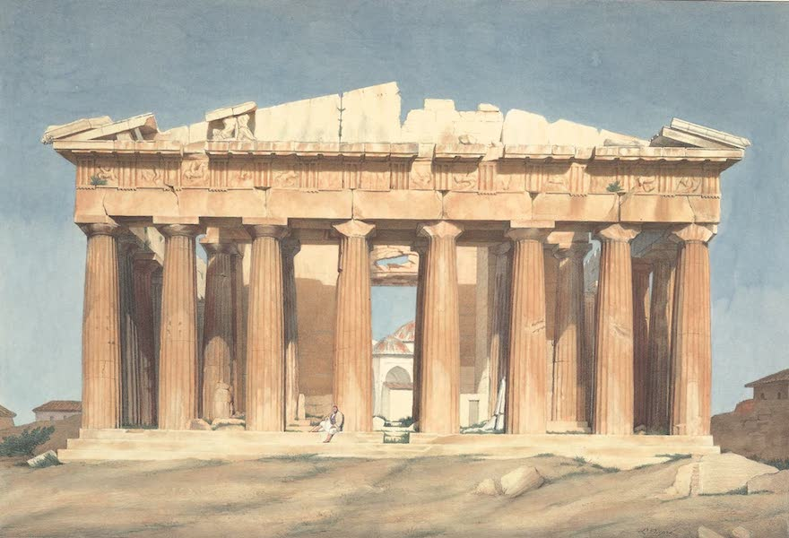 Voyage a Athenes et a Constantinopole - Le Parthenon (1825)