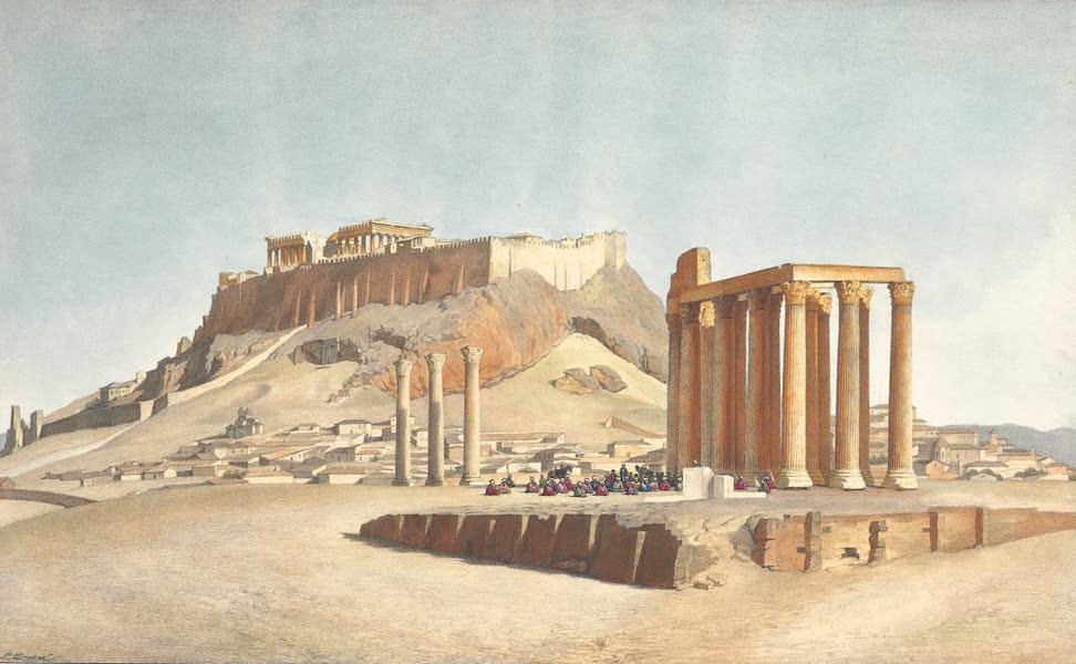 Voyage a Athenes et a Constantinopole - Le Temple de Jupiter Olympien et l'Acropolis d'Athenes (1825)