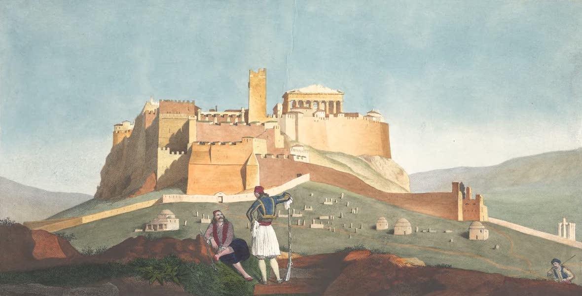 Voyage a Athenes et a Constantinopole - Vue de l'Acropolis (1825)