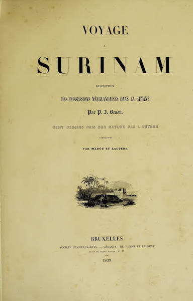 Voyage a Surinam - Title Page (1839)