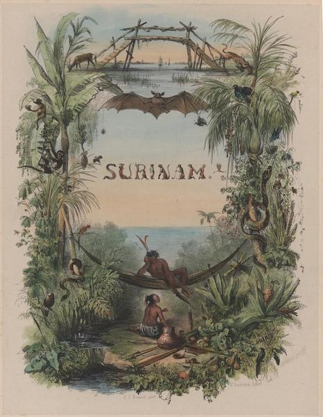 Voyage a Surinam - Illustrated Title Page (1839)