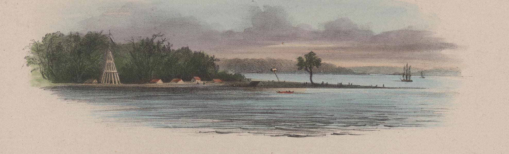 Voyage a Surinam - Braams-Punt, entree de la riviere de Surinam (1839)