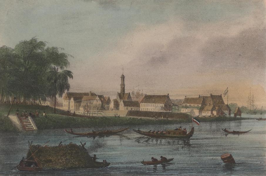 Voyage a Surinam - Vue de la forteresse Zelandia et de l'embarcadere (1839)