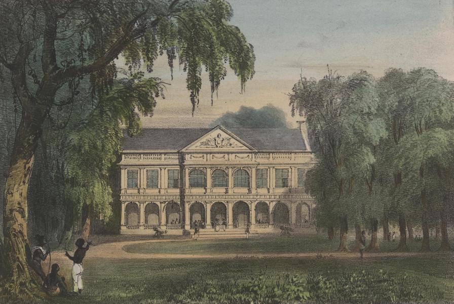 Voyage a Surinam - Vue du palais du gouverneur, du cote de la Place d'Armes (1839)