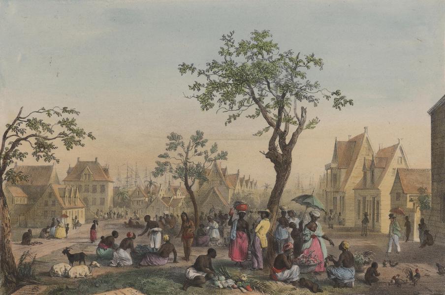 Voyage a Surinam - ue du grand Marche aux legumes, fruits et volailles (1839)