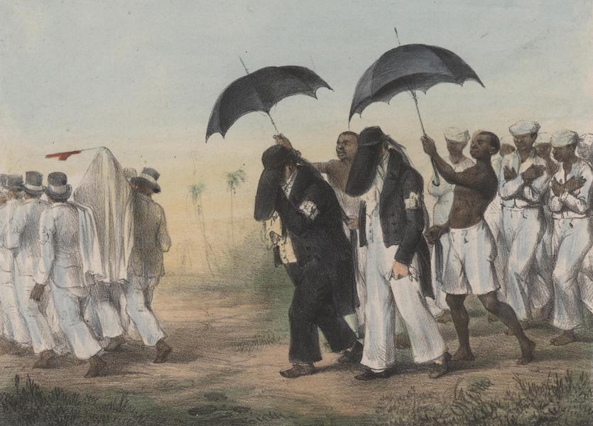 Voyage a Surinam - Convoi funebre d'une personne de qualite, precede et suivi de negres esclaves (1839)