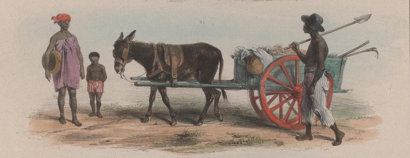 Voyage a Surinam - Un esclave du gouvernement charge de la proprete des rues (1839)