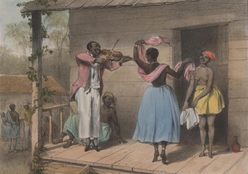 Voyage a Surinam - Un maitre de danse creole, enseignant des pas a une esclave negresse et a une creole (1839)