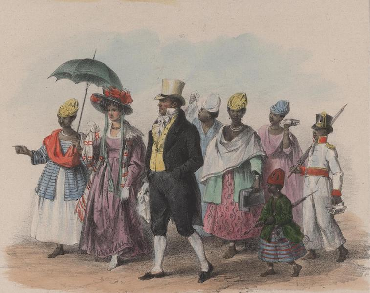 Voyage a Surinam - Des personnes de qualite se rendant a l'eglise (1839)