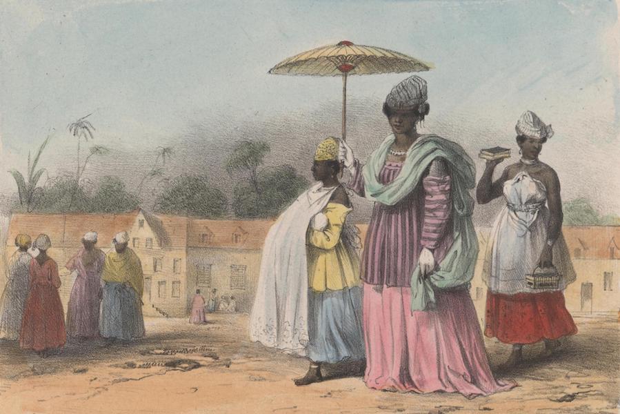Voyage a Surinam - Une missie, menant son enfant au bapteme, suivie et precedee de deux jeunes esclaves (1839)