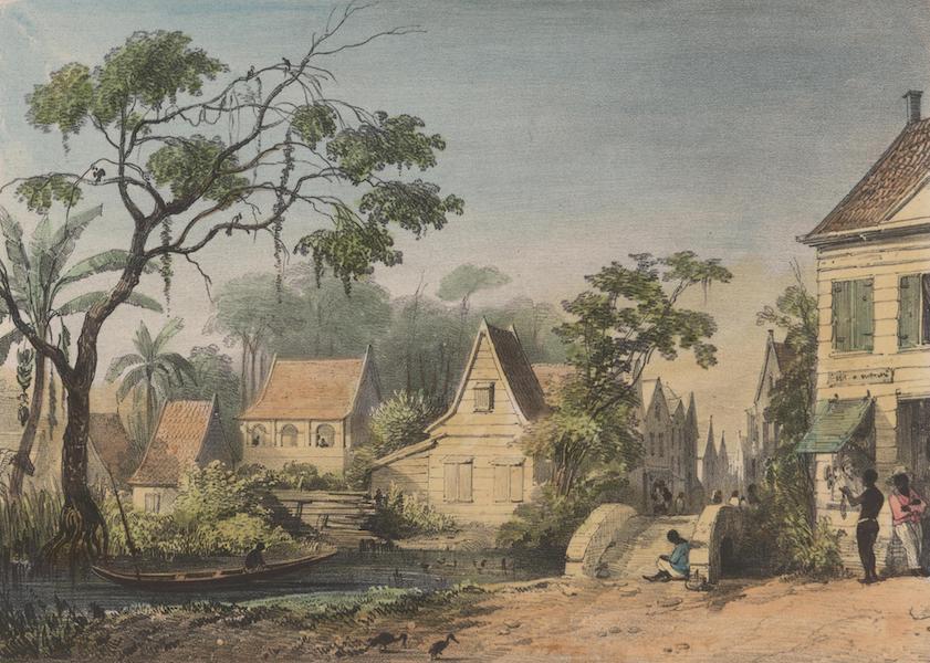 Voyage a Surinam - Vue de la rue de Sarameca (1839)