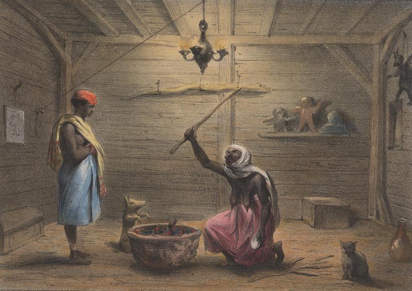 Voyage a Surinam - La Mama-snekie, ou water-mama, faisant ses conjurations (1839)