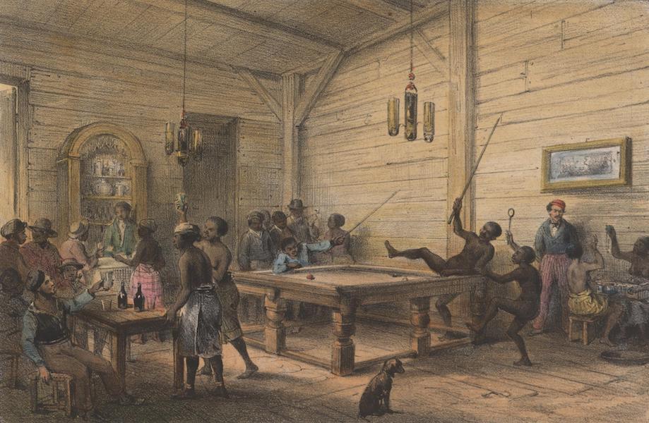 Voyage a Surinam - Negress'amusant a jouer au billard (1839)