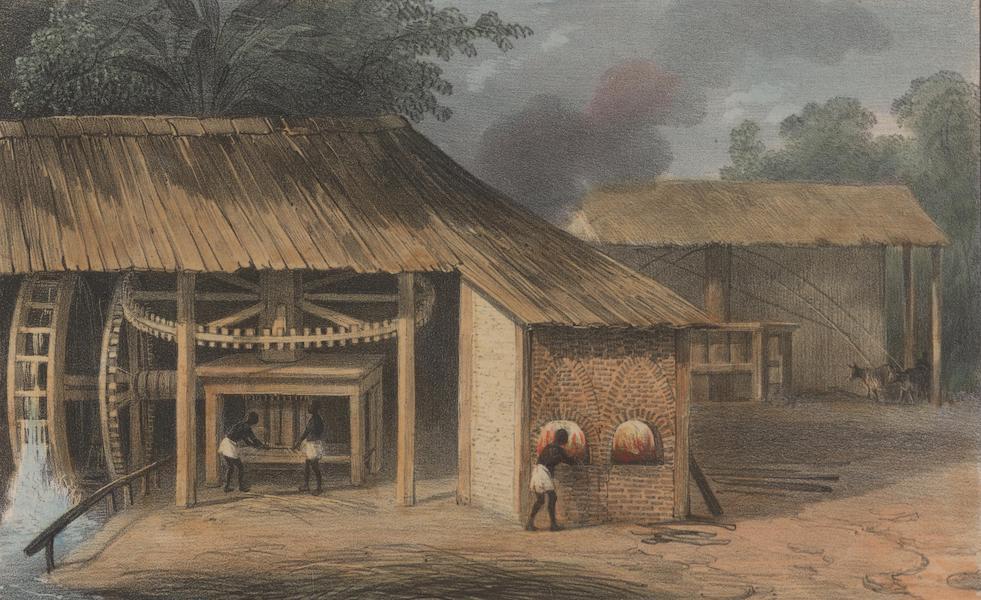 Voyage a Surinam - Moulin a presser la canne a sucre (1839)