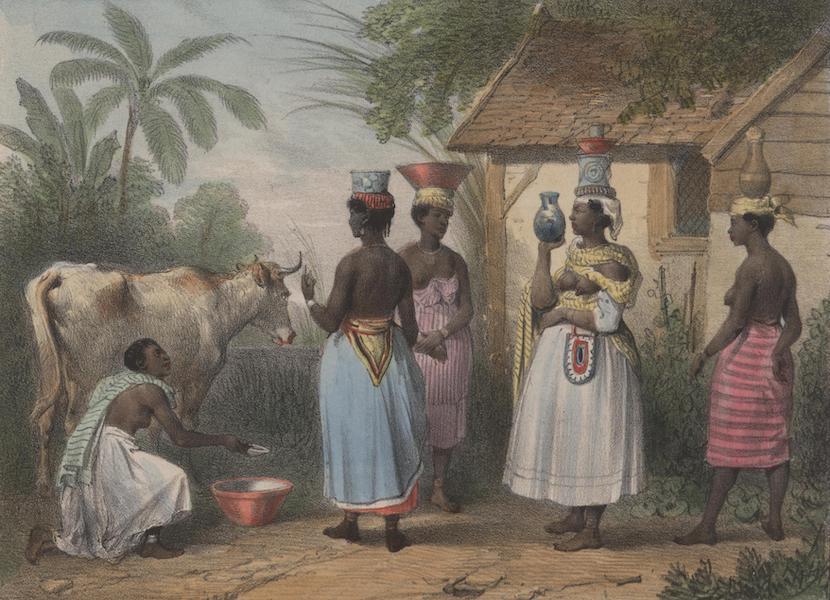 Voyage a Surinam - Laitiere et negresses portant du lait (1839)