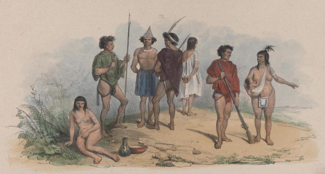 Voyage a Surinam - Indiens ou Caraibes, les meme avec leurs vetements (1839)