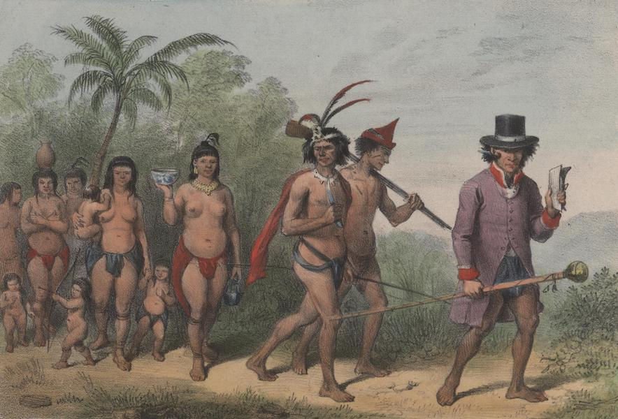 Voyage a Surinam - Marche d'une tribu (1839)
