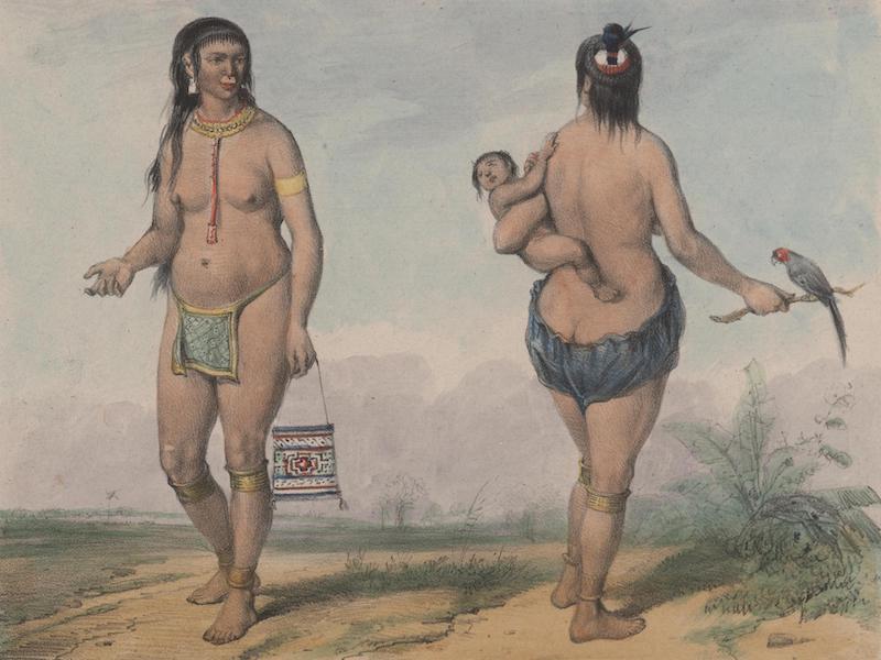 Voyage a Surinam - Femmes indiennes (1839)