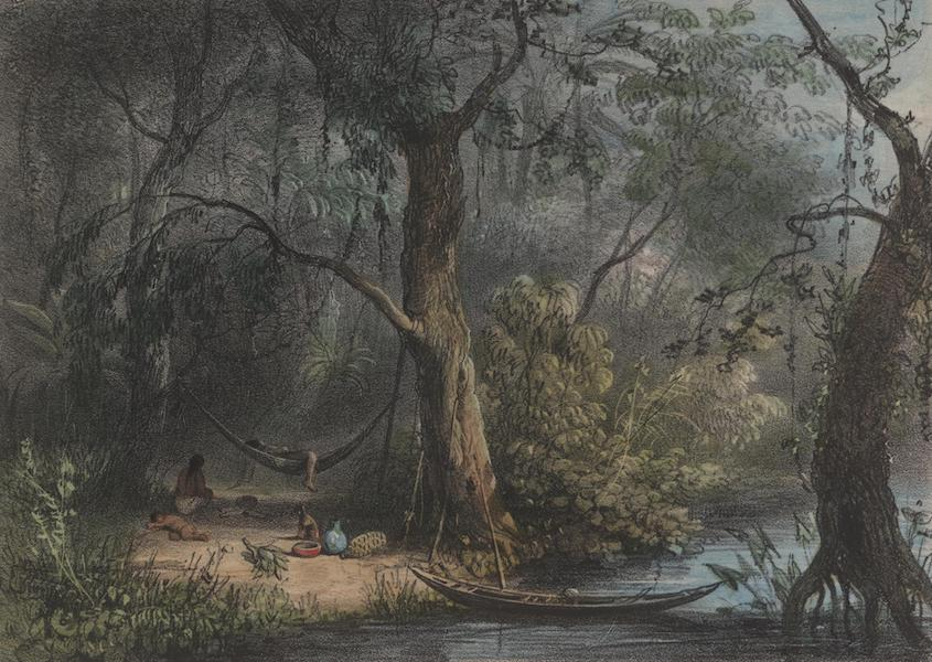 Voyage a Surinam - Une famille indienne dans une foret (1839)