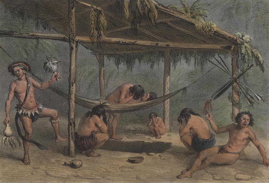 Voyage a Surinam - Enterrement d'un Indien (1839)