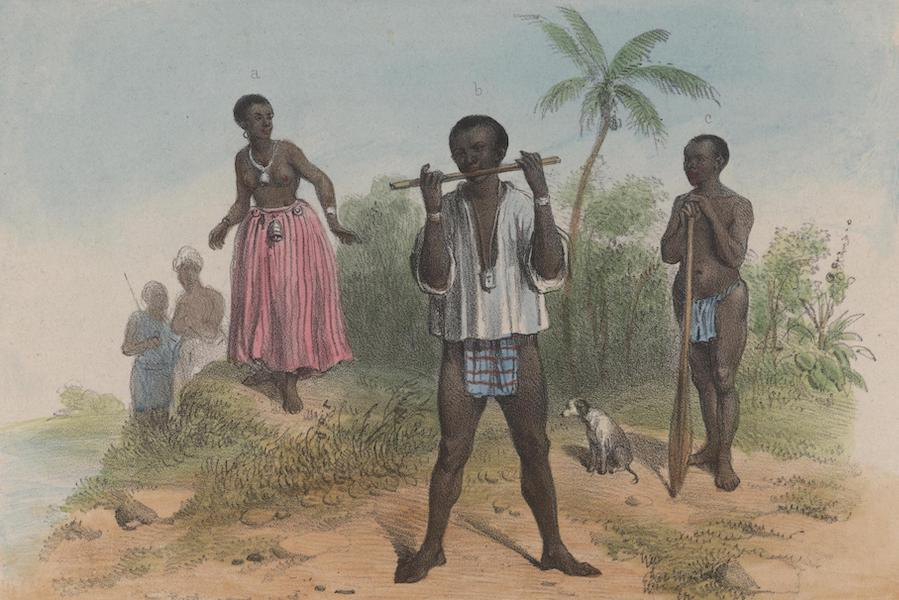 Voyage a Surinam - a. Une femme des bosch-negres. b. Espion. c. Bosch-Negre (1839)