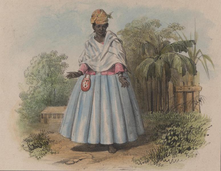 Voyage a Surinam - Une femme en grand costume (1839)